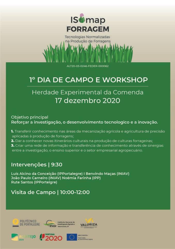 ISOMap Forragem: cartaz 1º dia de campo e Workshop
